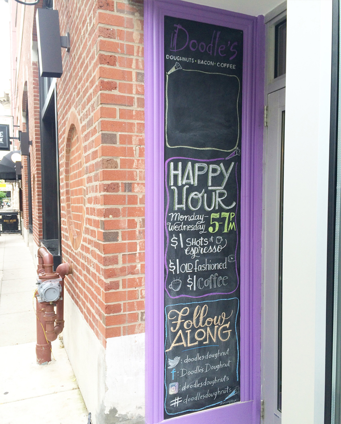 outdoor chalkboard signage